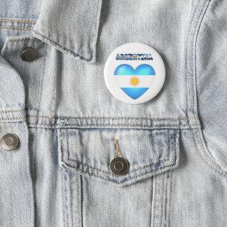 Argentinian heart 2 inch round button