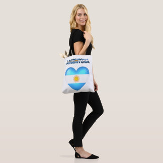 Argentinian heart tote bag