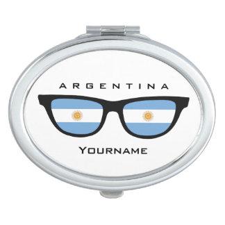 Argentinian Shades custom pocket mirror Makeup Mirrors