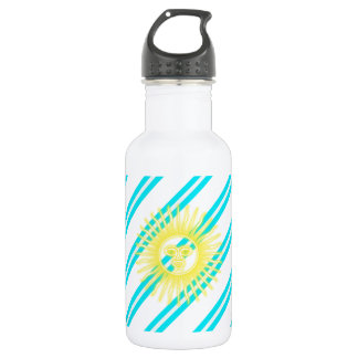 Argentinian stripes flag 532 ml water bottle