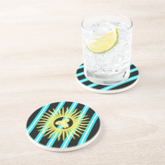Argentinian stripes flag coaster
