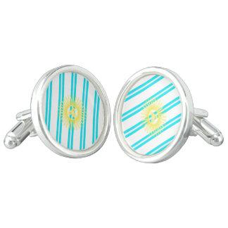 Argentinian stripes flag cufflinks