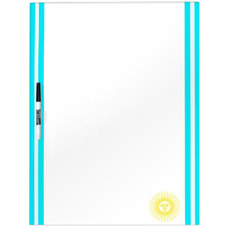 Argentinian stripes flag dry erase board