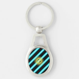 Argentinian stripes flag keychain