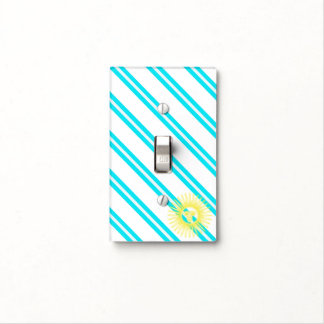 Argentinian stripes flag light switch cover