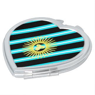 Argentinian stripes flag makeup mirror