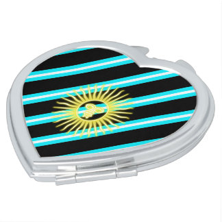 Argentinian stripes flag mirror for makeup