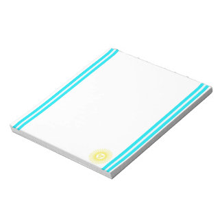 Argentinian stripes flag notepad