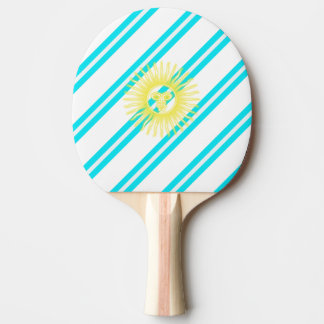 Argentinian stripes flag ping pong paddle