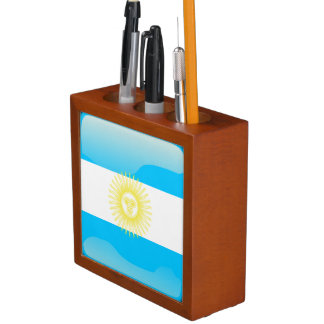 Argentinian Sun of May Desk Organizer