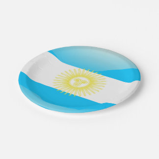 Argentinian Sun of May Paper Plate