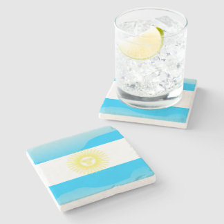 Argentinian Sun of May Stone Beverage Coaster