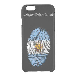 Argentinian touch fingerprint flag clear iPhone 6/6S case
