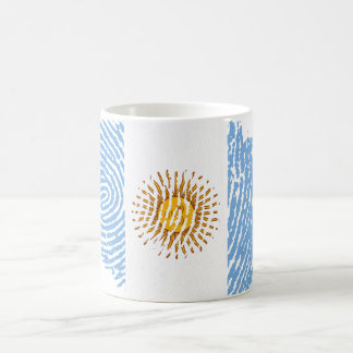 Argentinian touch fingerprint flag coffee mug