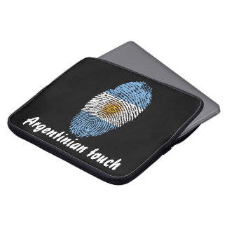 Argentinian touch fingerprint flag laptop sleeve