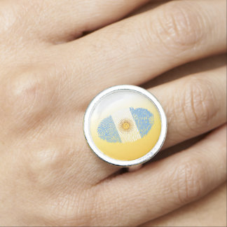 Argentinian touch fingerprint flag ring