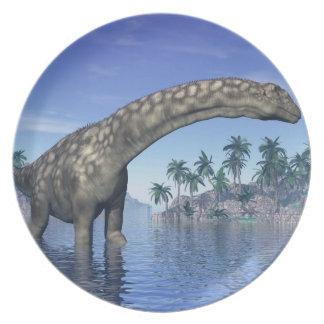 Argentinosaurus dinosaur - 3D render Plate