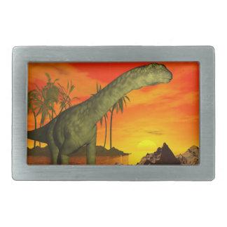 Argentinosaurus dinosaur by sunset - 3D render Belt Buckles
