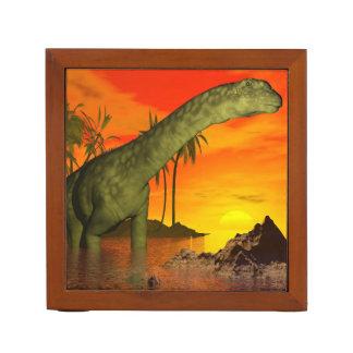 Argentinosaurus dinosaur by sunset - 3D render Desk Organizer