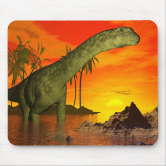 Argentinosaurus dinosaur by sunset - 3D render Mouse Pad