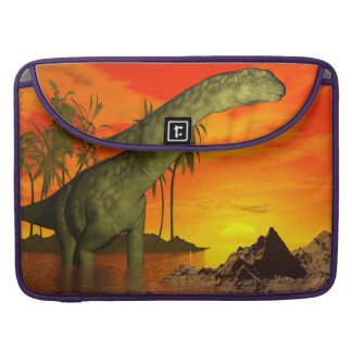 Argentinosaurus dinosaur by sunset - 3D render Sleeve For MacBooks