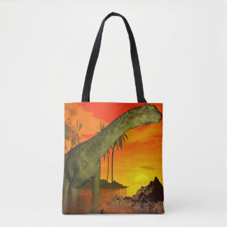 Argentinosaurus dinosaur by sunset - 3D render Tote Bag