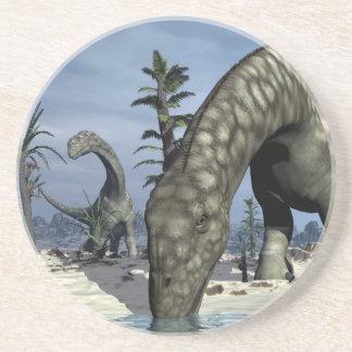 Argentinosaurus dinosaur drinking coaster
