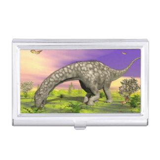 Argentinosaurus dinosaur eating - 3D render Business Card Holder
