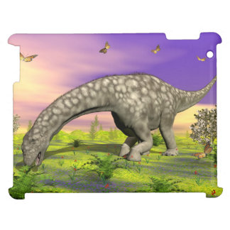 Argentinosaurus dinosaur eating - 3D render Case For The iPad