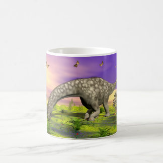 Argentinosaurus dinosaur eating - 3D render Coffee Mug