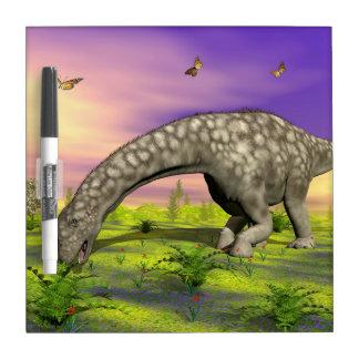 Argentinosaurus dinosaur eating - 3D render Dry Erase Board