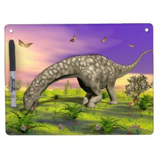 Argentinosaurus dinosaur eating - 3D render Dry Erase Board With Keychain Holder