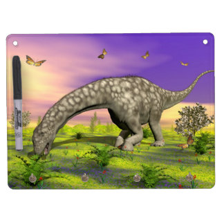 Argentinosaurus dinosaur eating - 3D render Dry Erase Whiteboards