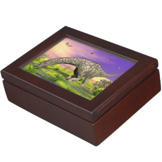 Argentinosaurus dinosaur eating - 3D render Keepsake Box