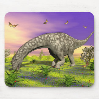 Argentinosaurus dinosaur eating - 3D render Mouse Pad