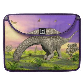 Argentinosaurus dinosaur eating - 3D render Sleeve For MacBook Pro
