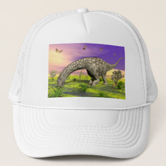 Argentinosaurus dinosaur eating - 3D render Trucker Hat