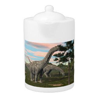Argentinosaurus dinosaur eating tree - 3D render