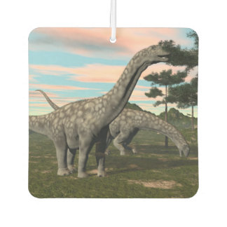 Argentinosaurus dinosaur eating tree - 3D render Car Air Freshener