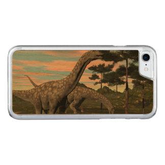 Argentinosaurus dinosaur eating tree - 3D render Carved iPhone 8/7 Case