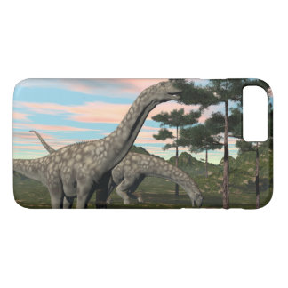 Argentinosaurus dinosaur eating tree - 3D render iPhone 8 Plus/7 Plus Case