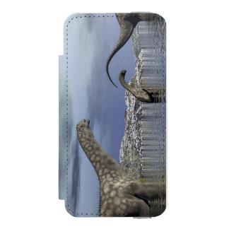 Argentinosaurus dinosaur family incipio watson™ iPhone 5 wallet case