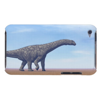 Argentinosaurus dinosaur in the desert - 3D render Barely There iPod Cover