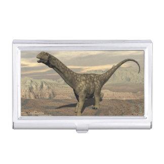Argentinosaurus dinosaur walk - 3D render Business Card Holder