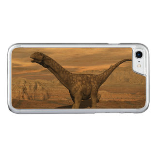 Argentinosaurus dinosaur walk - 3D render Carved iPhone 8/7 Case