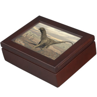 Argentinosaurus dinosaur walk - 3D render Keepsake Box