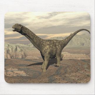 Argentinosaurus dinosaur walk - 3D render Mouse Pad