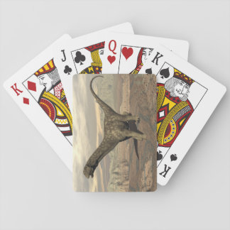 Argentinosaurus dinosaur walk - 3D render Playing Cards