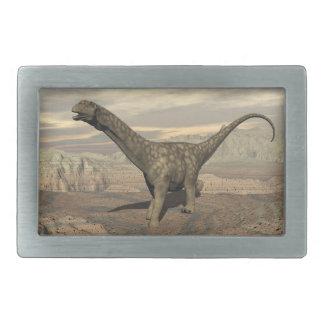 Argentinosaurus dinosaur walk - 3D render Rectangular Belt Buckle