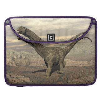 Argentinosaurus dinosaur walk - 3D render Sleeve For MacBook Pro